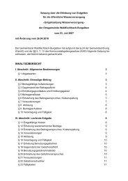 Entgeltsatzung Wasserversorgung - Verbandsgemeinde ...