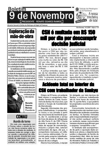 Boletim 173 - Sindicato dos Metalúrgicos do Sul Fluminense