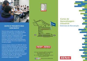 folder eletricista - Senai