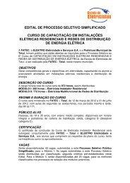 EDITAL DE PROCESSO SELETIVO SIMPLIFICADO ... - Elektro