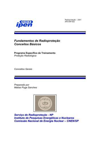 Fundamentos de Radioproteção Conceitos Básicos