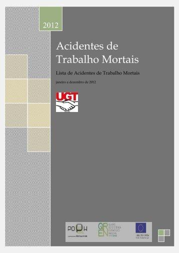 Acidentes de Trabalho Mortais - UGT