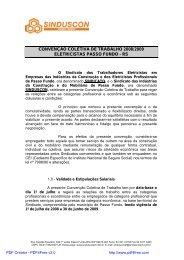 Convenção Coletiva Eletricistas 2008/2009 - Sinduscon Passo Fundo