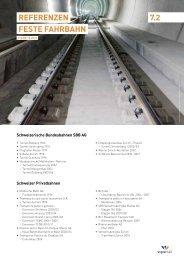 RefeRenzen feSte fahRbahn 7.2 - Vigier Rail AG