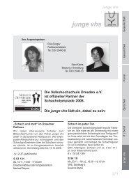 junge vhs - Volkshochschule Dresden