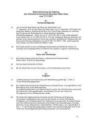 Satzung des Zweckverbandes - Volkshochschule Hilden-Haan