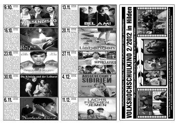 finden Sie das VHS-Kinoprogramm 2. Halbjahr - Volkshochschule ...