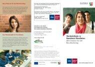 Flyer zum Werkstattjahr NRW - Volkshochschule Hilden-Haan