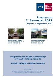 Weltansichten - Volkshochschule Hilden-Haan