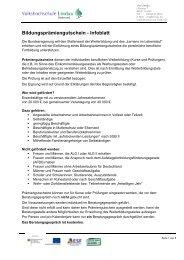 Bildungsprämiengutschein - Infoblatt - VHS Lindau