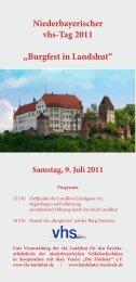 Burgfest in Landshut - Volkshochschule Mainburg und Umgebung e.V.