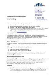 Unsere AGB zum Download (pdf) - Volkshochschule Mainburg und ...