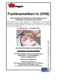Fachkosmetiker/-in (VHS) - Volkshochschule Meppen