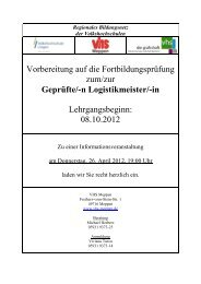 Logistikmeister - Volkshochschule Meppen