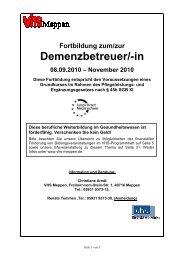 Demenzbetreuer/-in - Volkshochschule Meppen