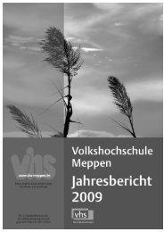 Jahresbericht 2009 - Volkshochschule Meppen