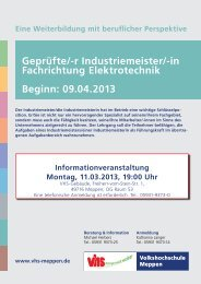 Elektro (IHK) - Volkshochschule Meppen