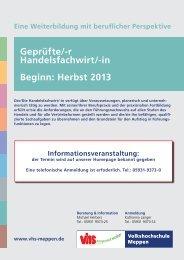 Herbst 2013 - Volkshochschule Meppen