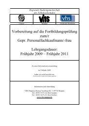 Frühjahr 2009 - Volkshochschule Meppen