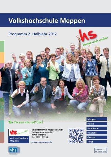 Volkshochschule Meppen Programm 2. Halbjahr 2012