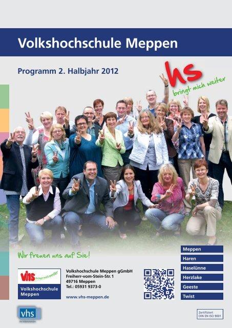 Volkshochschule Meppen Programm 2 Halbjahr 2012