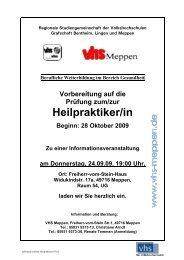 Heilpraktiker/in - Volkshochschule Meppen