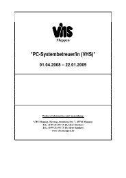 PC-Systembetreuer/in (VHS) - Volkshochschule Meppen