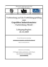 Regionale Studiengemeinschaft - Volkshochschule Meppen