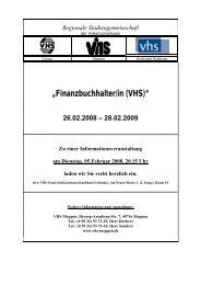 """""""Finanzbuchhalter/in (VHS)"""" 26.02.2008 - Volkshochschule Meppen"""
