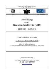 Finanzbuchhalter/-in (VHS) - Volkshochschule Meppen