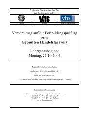 Geprüften Handelsfachwirt - Volkshochschule Meppen