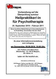 Infomaterial HP_für Psychotherapie Sept.2010 - Volkshochschule ...