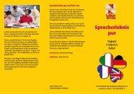 Download Flyer Sprachreisen - Volkshochschule im Norden des ...