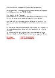 Einstufungstest für unsere Kurse Deutsch als Fremdsprache Die ...