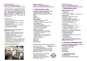 Qualifizierungsoffensive im Tourismus - Volkshochschule Regen