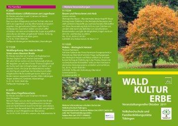 WALD KULTUR ERBE - VHS Tübingen