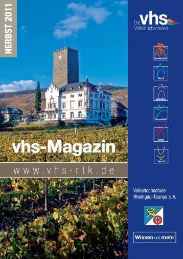 vhs-Herbst 2011.indd - vhs Rheingau-Taunus eV