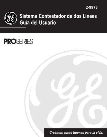 Sistema Contestador de dos Lineas Guía del Usuario - Thomson ...