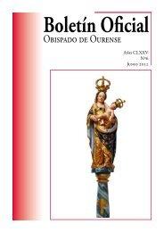 Boletín Oficial del Obispado de Ourense - Junio 2012
