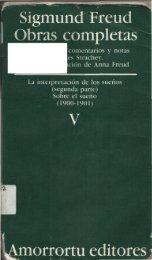 Volumen V – La interpretación de los sueños (II
