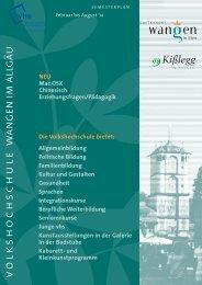 Kißlegg ist schon seit vielen Jahren ein kleines - Volkshochschule ...