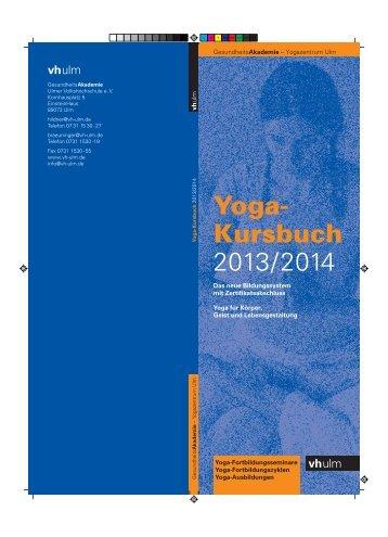 Yoga- Kursbuch 2013/2014 - vh ulm
