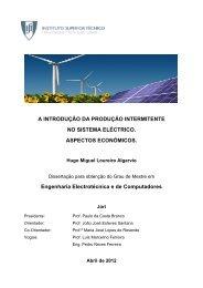 a introdução da produção intermitente no sistema eléctrico ...