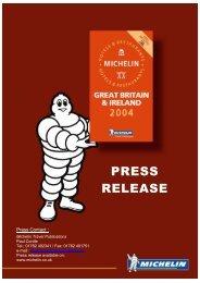 The MICHELIN® Guide: Great Britain and Ireland 2004 - ViaMichelin