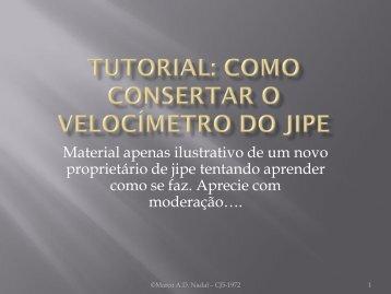 TUTORIAL: Como consertar o velocímetro do Jipe - 4x4 Brasil
