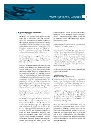 Kosmetische Operationen PDF - Dr. med Michel von Büren