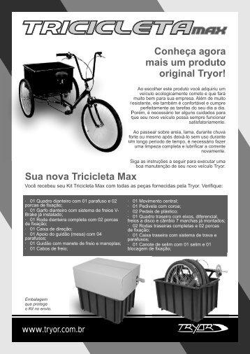 Tryor Manual Tricicleta Max NOVO