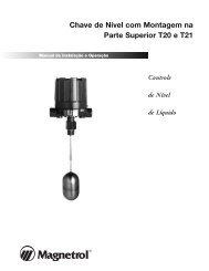 Chave de Nível com Montagem na Parte Superior T20 e ... - Magnetrol