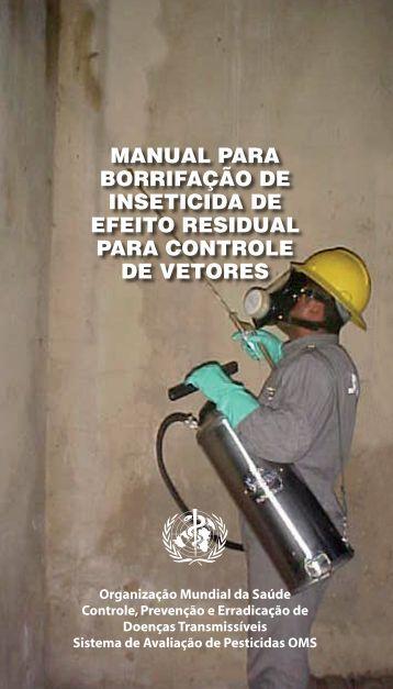 Manual para borrifação de inseticida de efeito residual
