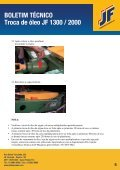 BOLETIM TÉCNICO Troca de óleo JF 1300 / 2000 - JF Máquinas ... - Page 6